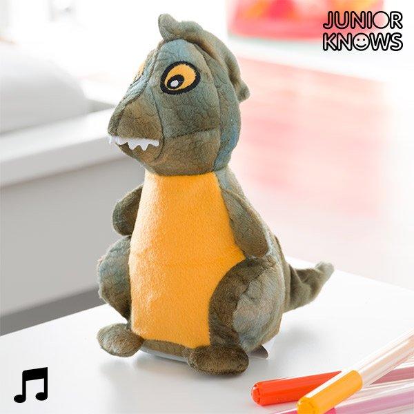 Dinosaur Bamse Med Diktafon Og Stemmeafspiller