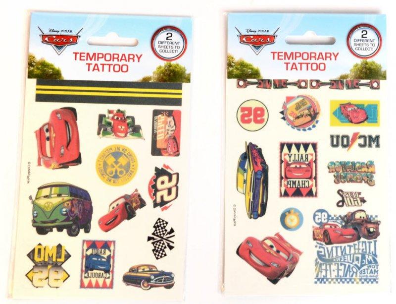 Børnetatoveringer / Falske Tatoveringer - Disney Cars