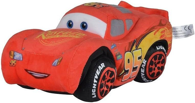 Disney Biler 3 / Cars 3 Lynet Mcqueen Bamse - 25 Cm