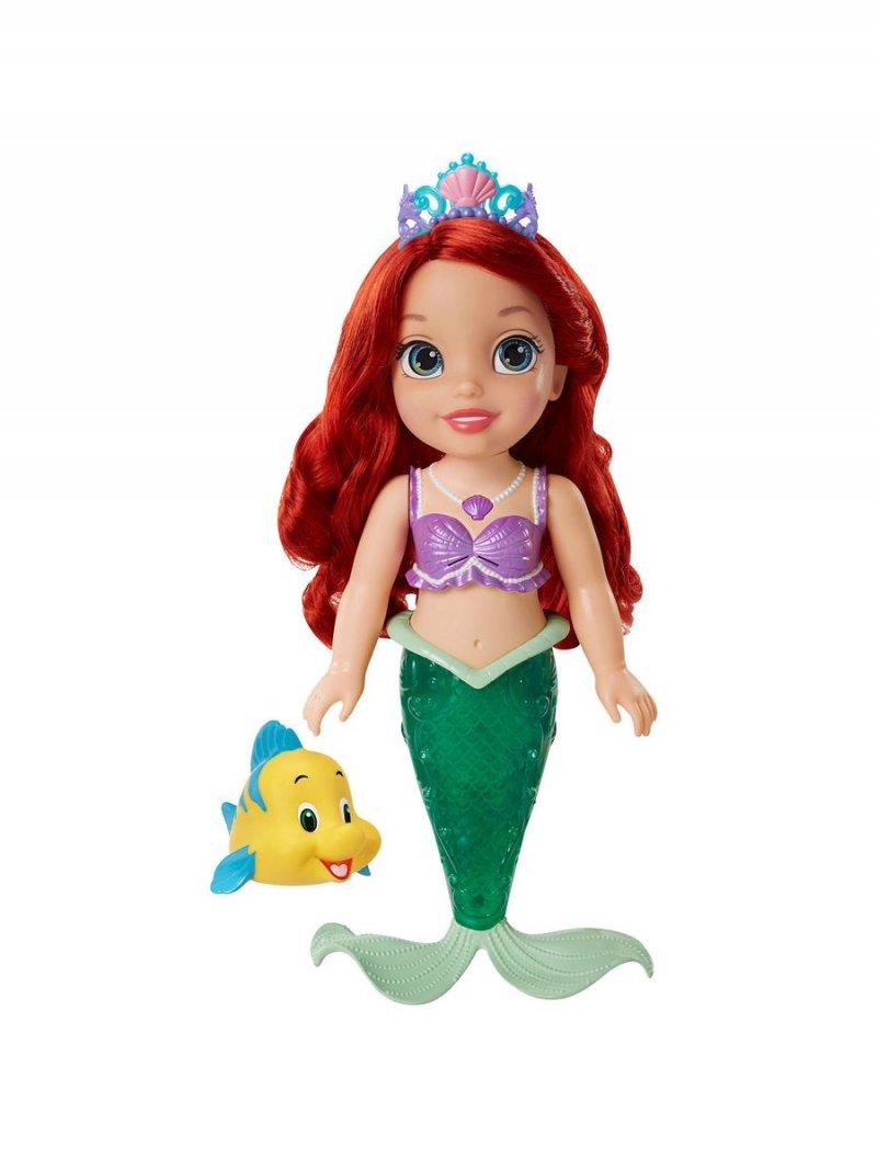 Image of   Disney Princess Ariel Dukke - Havfrue Med Lys Og Glimmer Hale