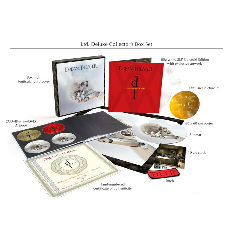 Image of   Dream Theater - Distance Over Time Boks (cd + Lp + Blu-ray + Dvd) - CD