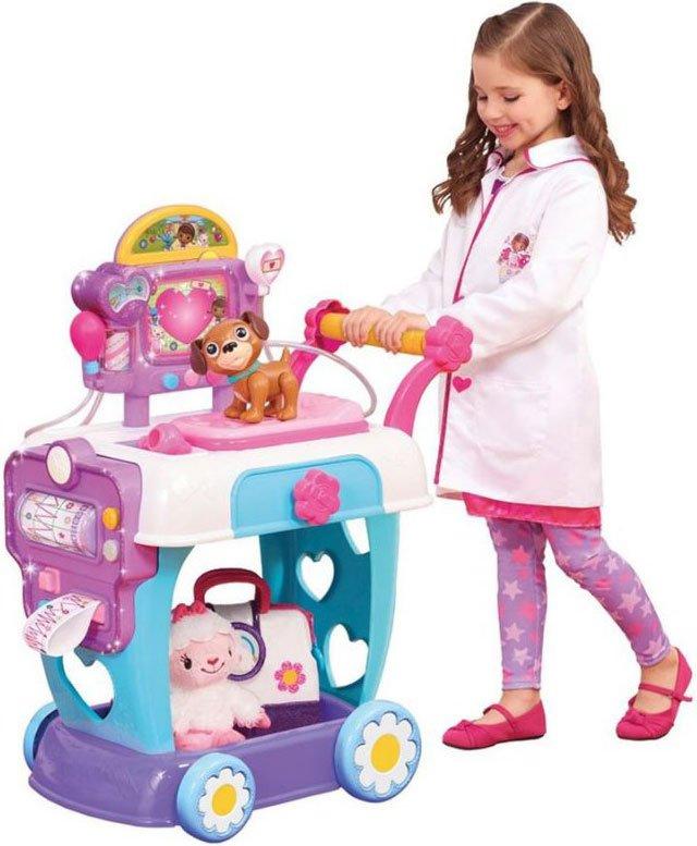 doktor mcstuffins legetøj, doc mcstuffins legetøj, dr mcstuffins legetøj, toy hospital, doc toy hospital, care cart