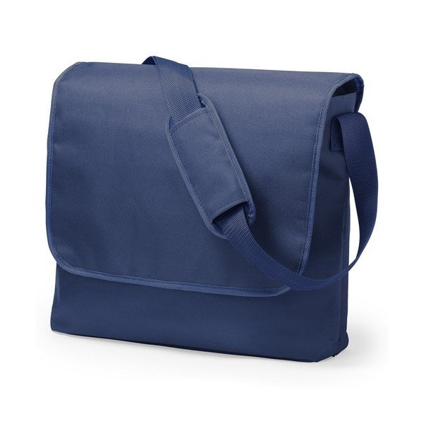 Image of   Computertaske Med Flap Og Skulderstrop - Navy Blå - 43x31x11 Cm.