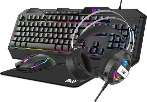 Billede af Don One Gs100 4-1 Gaming Tastatur, Mus, Headset Og Musemåtte