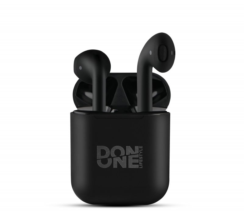 Image of   Don One Lifestyle - Ledningsfri Earbuds Høretelefoner Med Etui - Sort
