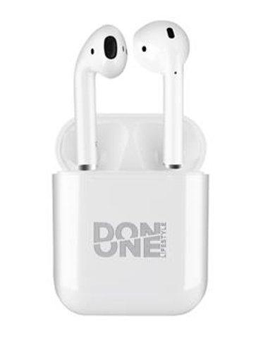 Image of   Don One Lifestyle - Ledningsfri Earbuds Høretelefoner Med Etui - Hvid