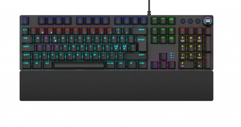 Image of   Don One Salvatore - Mekanisk Gaming Tastatur Med Farverigt Lys