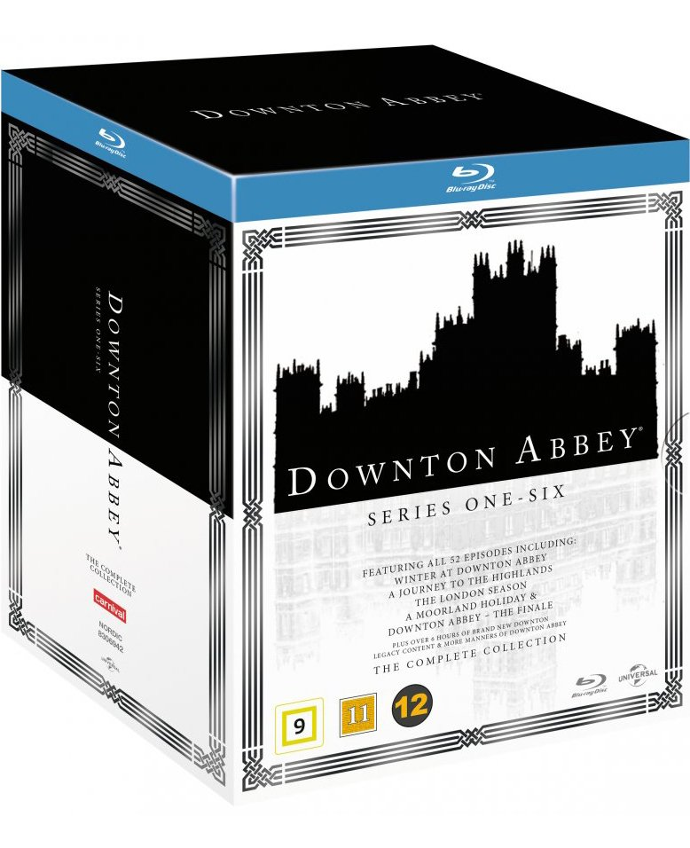 Downton Abbey - Sæson 1-6 + 5 Specials - Blu-Ray - Tv-serie