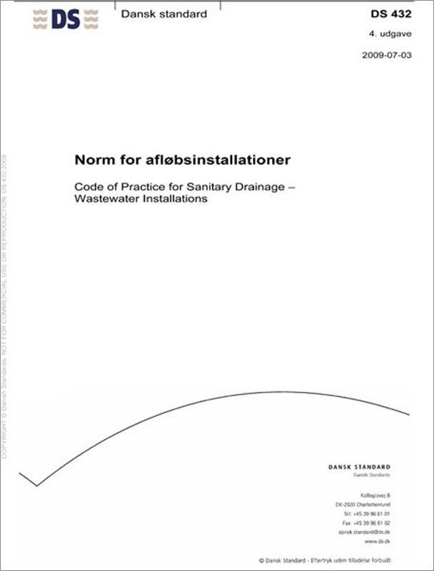 Image of   Ds 432 Norm For Afløbsinstallationer - Diverse - Bog