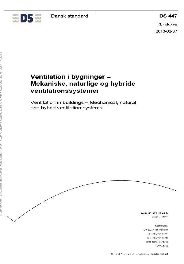 Image of   Ds447. Ventilation I Bygninger - Diverse - Bog