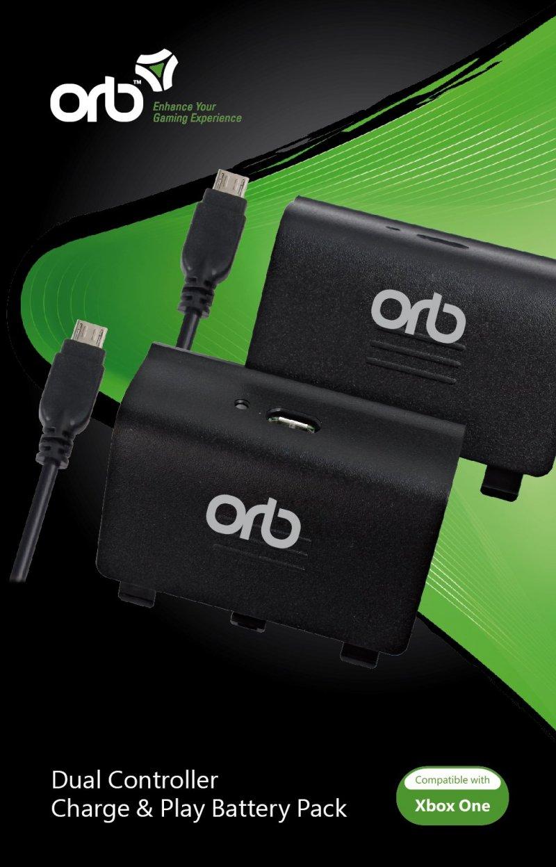 Image of   Xbox One Orb Controller Batterier - Oplad Og Spil - 2 Stk.