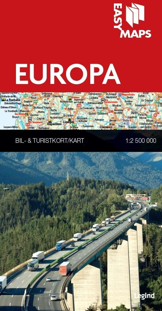 Image of   Easy Maps - Europa - Legind A - Bog