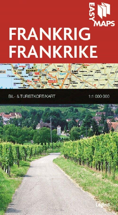 Image of   Easy Maps - Frankrig - Legind A - Bog