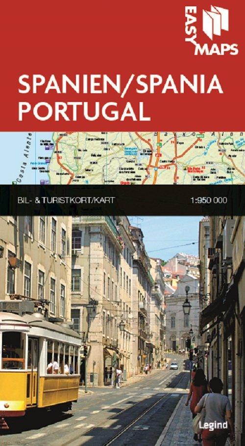 Easy Maps - Spanien Og Portugal - Legind A - Bog