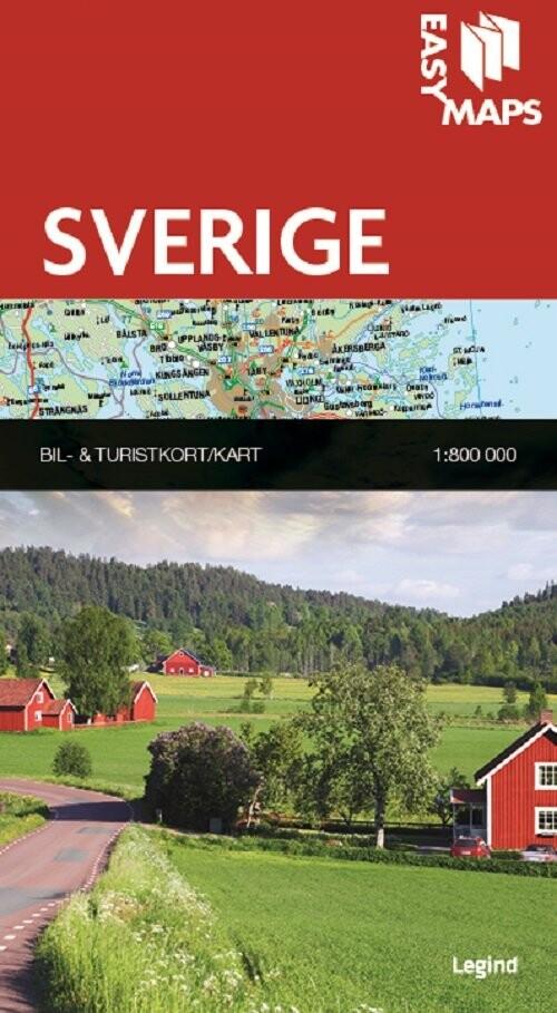 Easy Maps - Sverige - Legind A - Bog