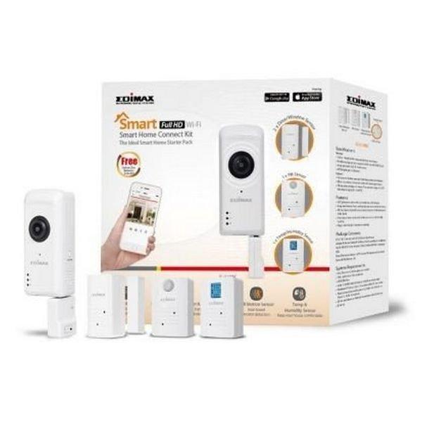 Image of   Edimax - Wifi Ip Kamera Sæt Med 2 Sensorer - Ic-5170sc - Fuld Hd - Hvid