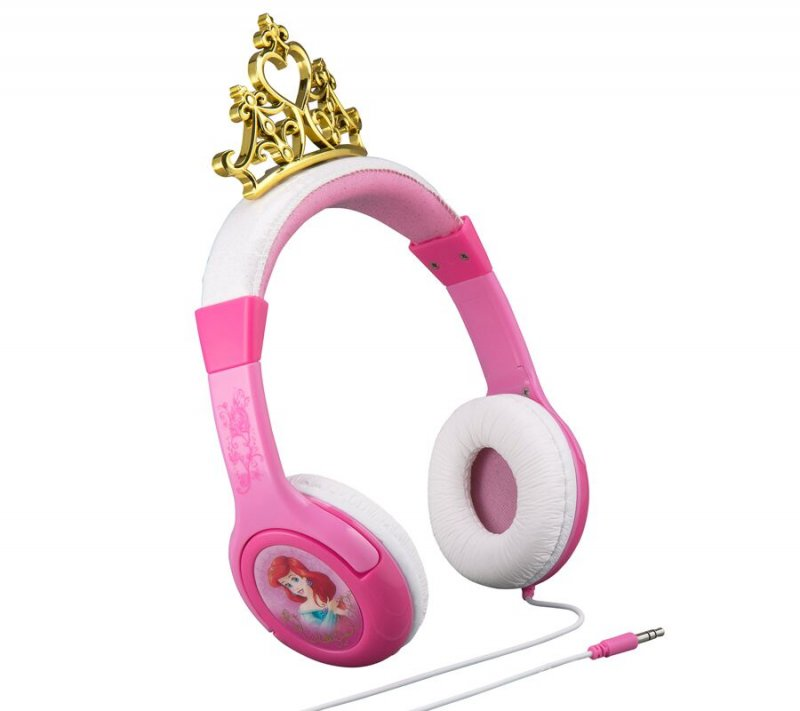 Image of   Ekids - Disney Prinsesser - On-ear Hovedtelefoner Med Volumekontrol - Pink
