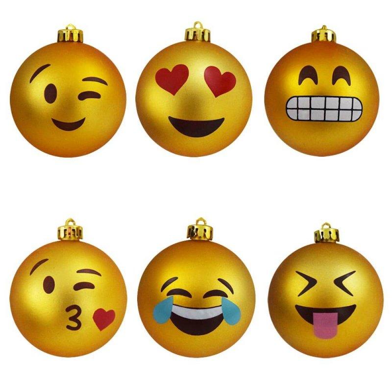 Image of   Emoji Julekugler