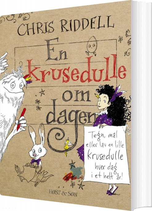 Image of   En Krusedulle Om Dagen - Chris Riddell - Bog