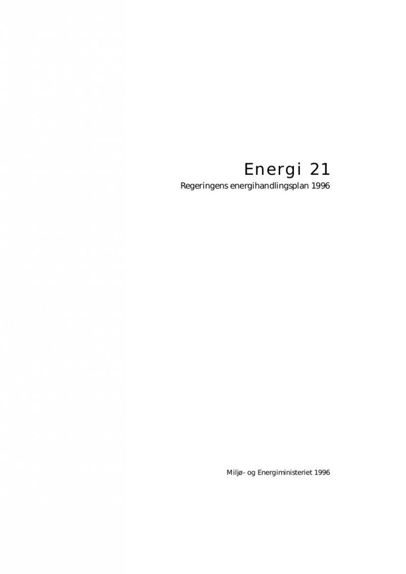 Image of   Energi 21 - Bog