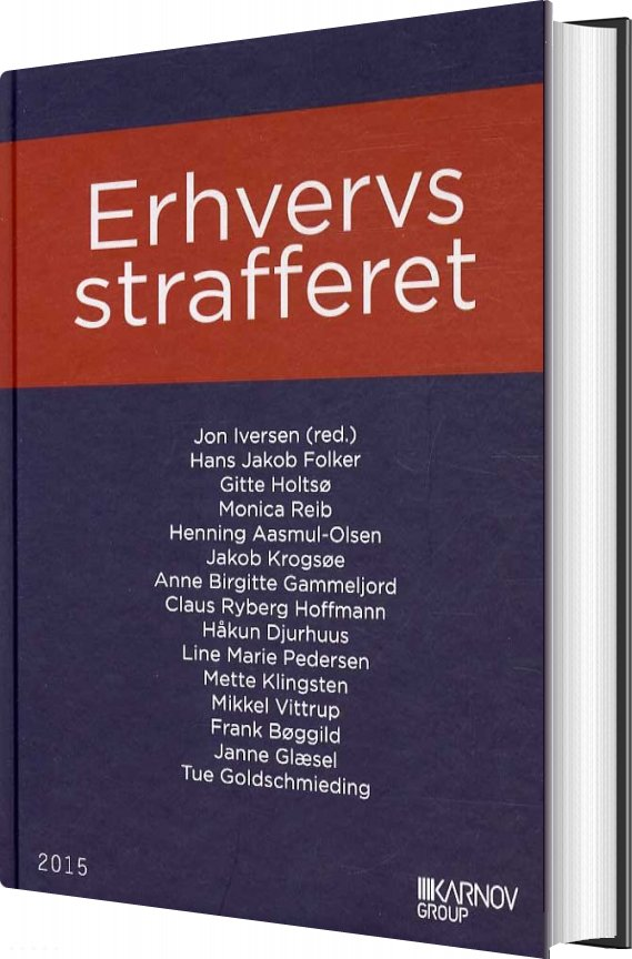 Image of   Erhvervsstrafferet - Jon Iversen - Bog