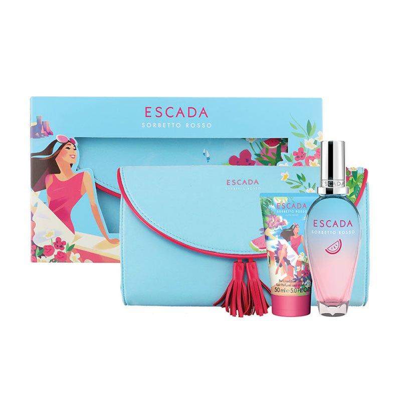 Image of   Escada Parfume - Sorbetto Rosso Edt 50 Ml + Bodylotion 50 Ml - Gavesæt