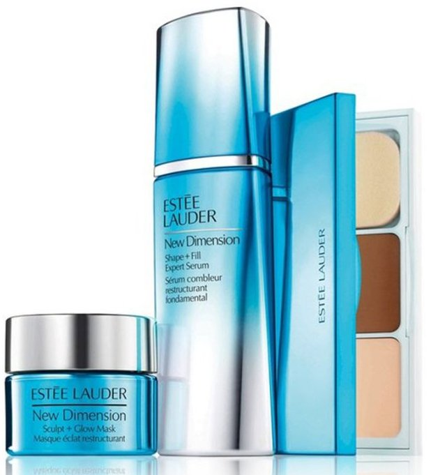 Image of   Estée Lauder New Dimension Serum 30 Ml & New Dimension Maske 15 Ml & Face Kit Promo