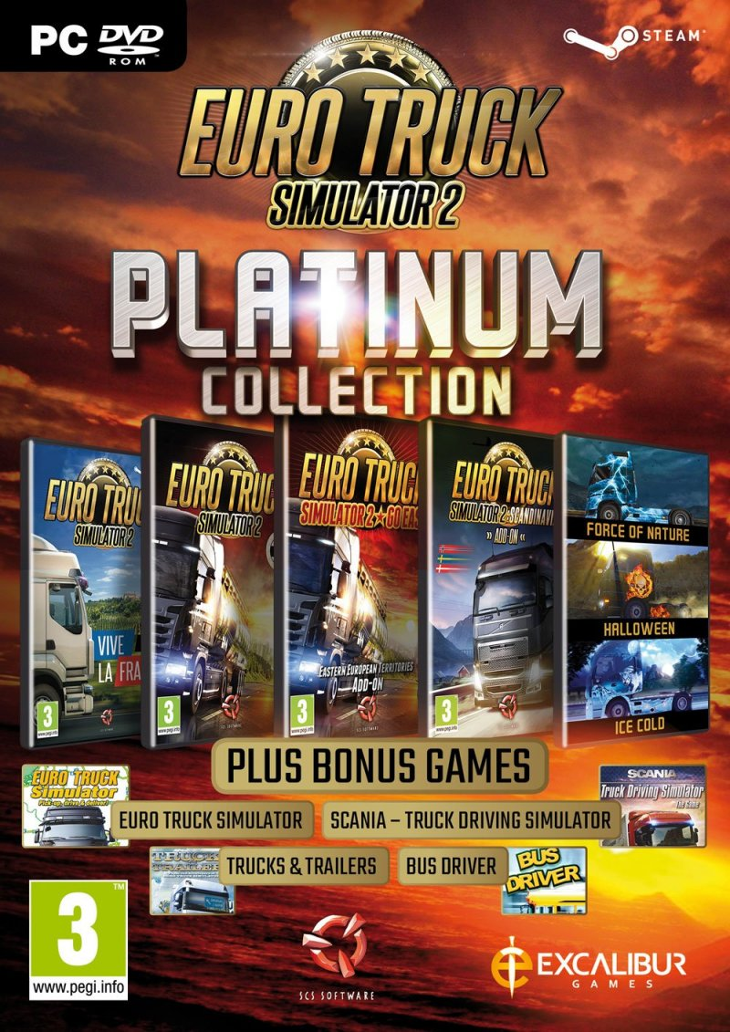 Image of   Euro Truck Simulator 2 Platinum Collection - PC