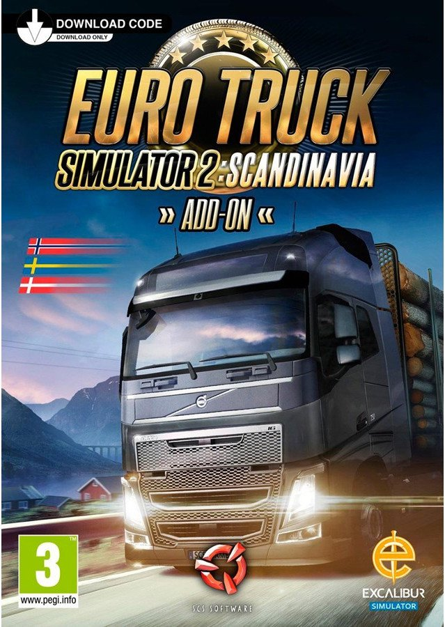 Image of   Euro Truck Simulator 2 - Scandinavia - Nordic Boxed Version - PC