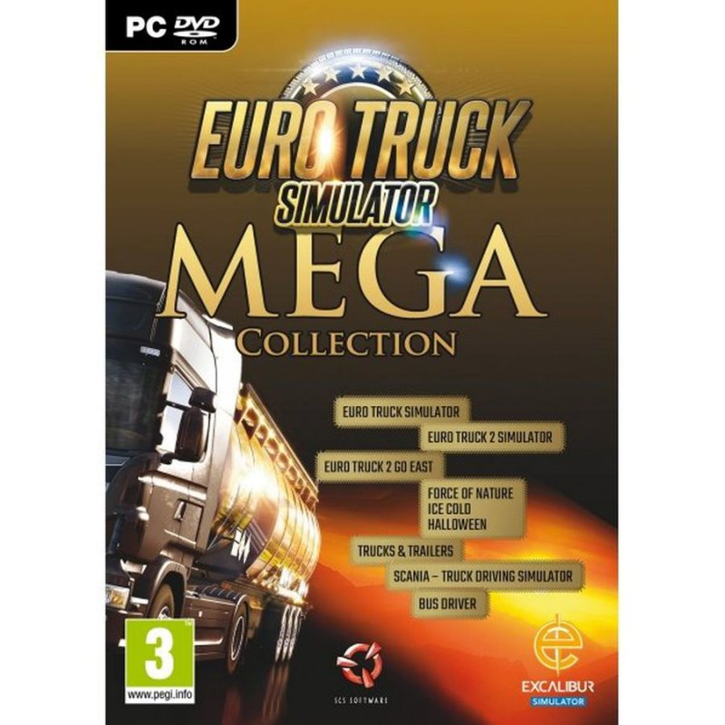 Image of   Euro Truck Simulator - Mega Collection - PC