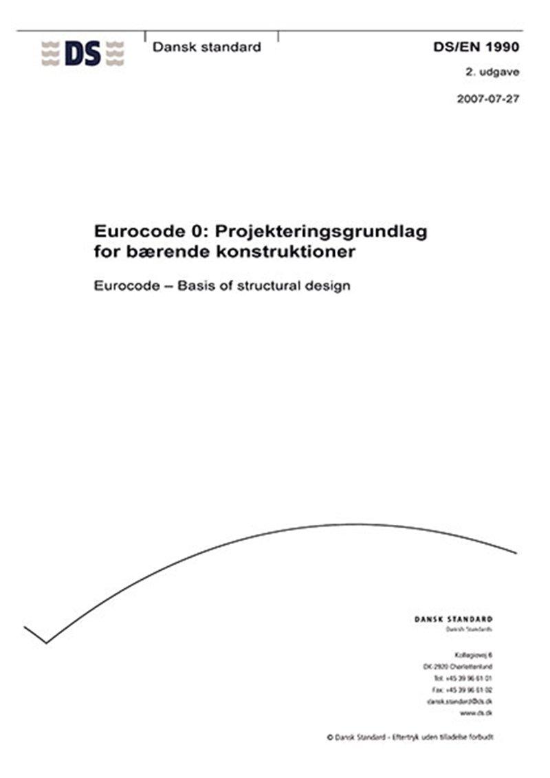 Image of   Eurocode 0: Projekteringsgrundlag For Bærende Konstruktioner - Diverse - Bog