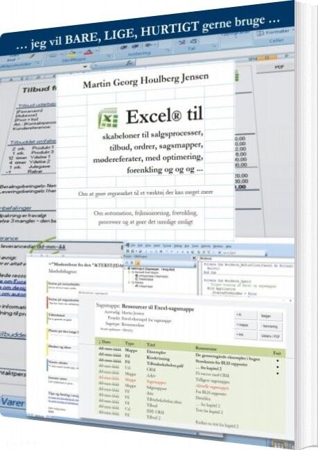Image of   Excel Til Skabeloner - Martin Jensen - Bog