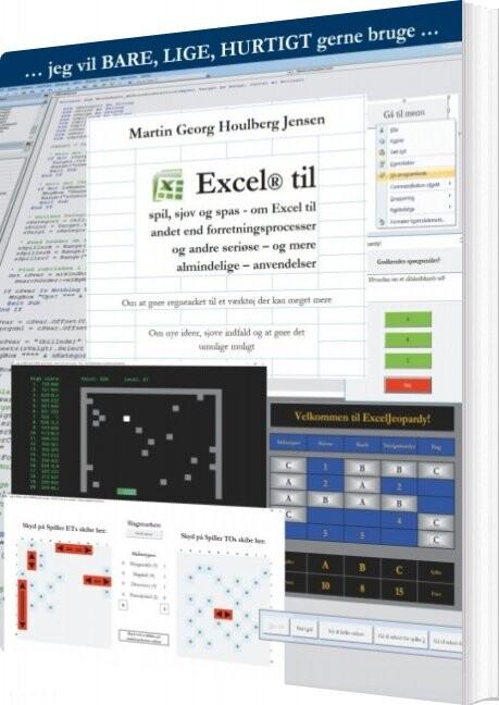 Image of   Excel Til Spil, Sjov Og Spas - Martin Georg Houlberg Jensen - Bog
