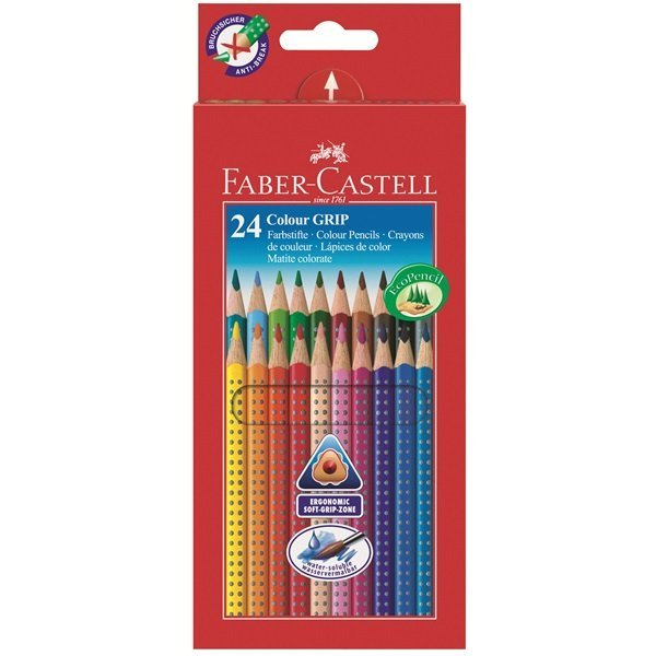 Image of   Faber Castell Colour Grip - Farveblyanter - 24 Stk.