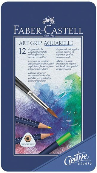 Image of   Faber Castell Art Grip Aquarelle - 12 Stk