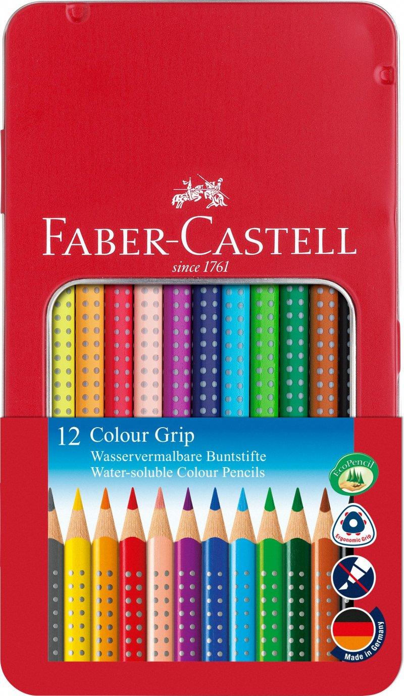 Image of   Faber-castell - Colour Grip Farveblyant, Tinæske Med 12 Stk (112413)