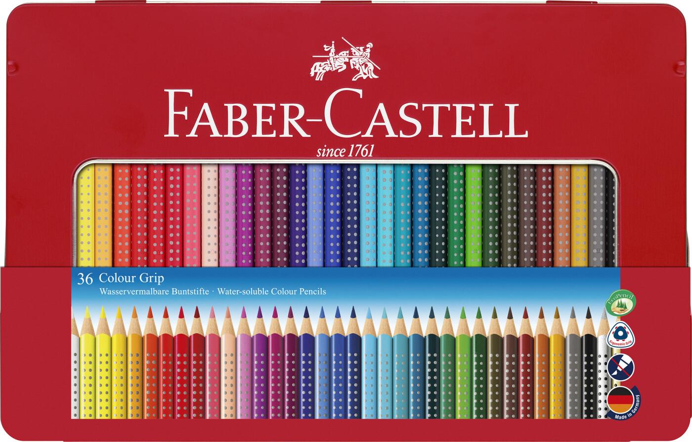 Image of   Faber-castell - Colour Grip Farveblyant, Tinæske Med 36 Stk (112435)