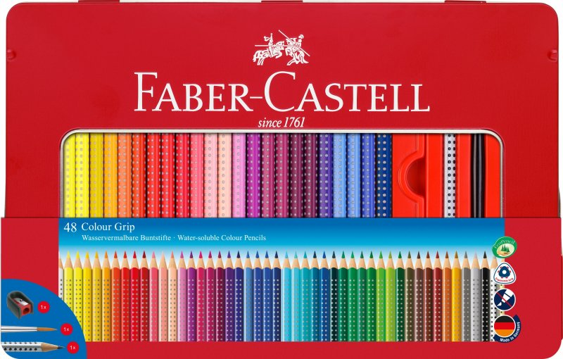 Image of   Faber Castell Colour Grip Farveblyanter - 48 Stk.