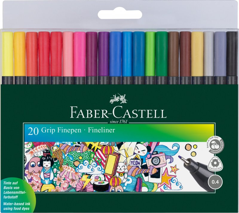 Image of   Faber-castell Tusser - 20 Stk. Grip Finepens