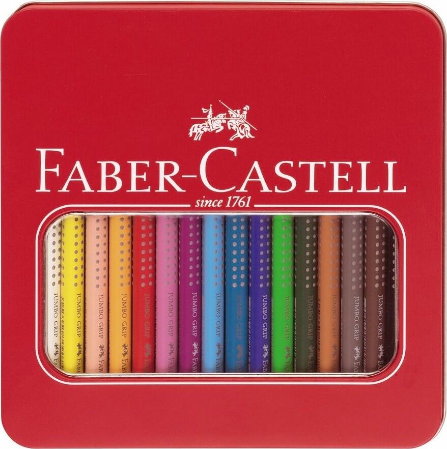 Image of   Faber Castell Jumbo Grip Farveblyanter - 16 Stk.