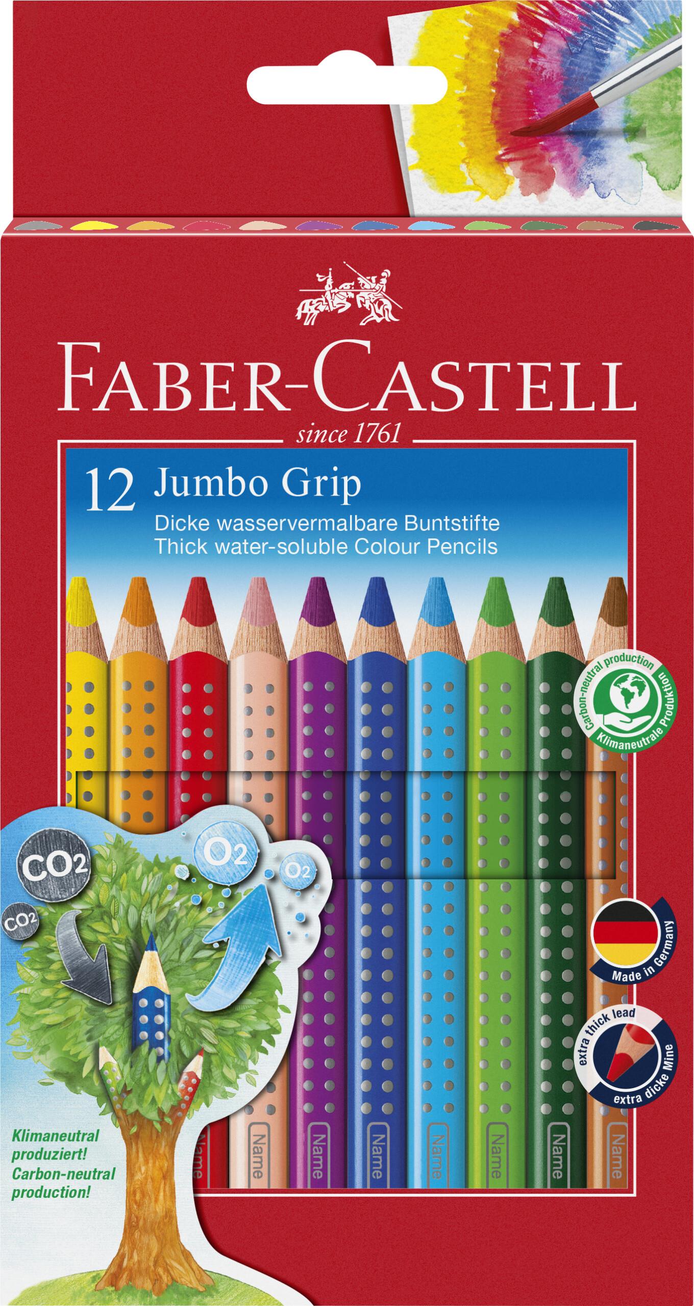 Image of   Faber-castell Jumbo Grip Farveblyanter - 12 Stk.