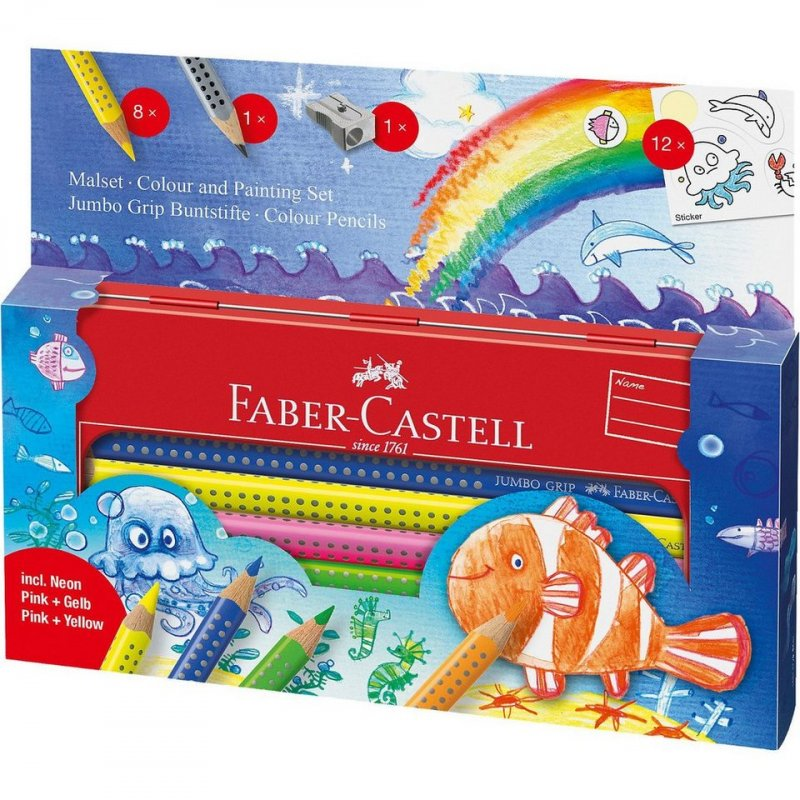 Image of   Faber Castell Jumbo Grip Farveblyanter - I Havet