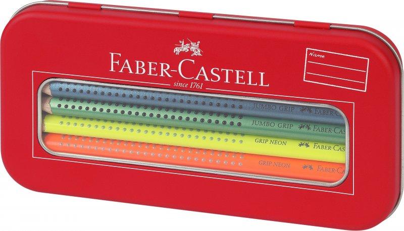 Image of   Faber Castell Jumbo Grip Farveblyanter - Neon & Matalic
