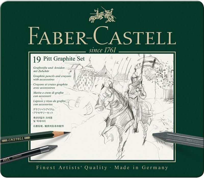 Image of   Faber-castell - Pitt Graphite Sæt I Tin æske (19 Stk)