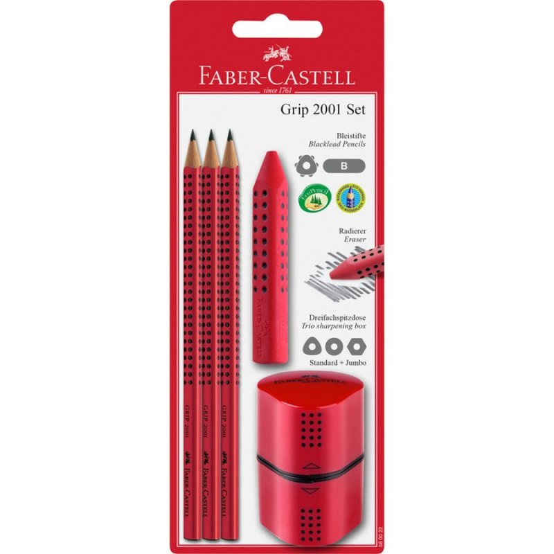 Image of   Faber Castell Pencil Set / Blyantsæt - Rød