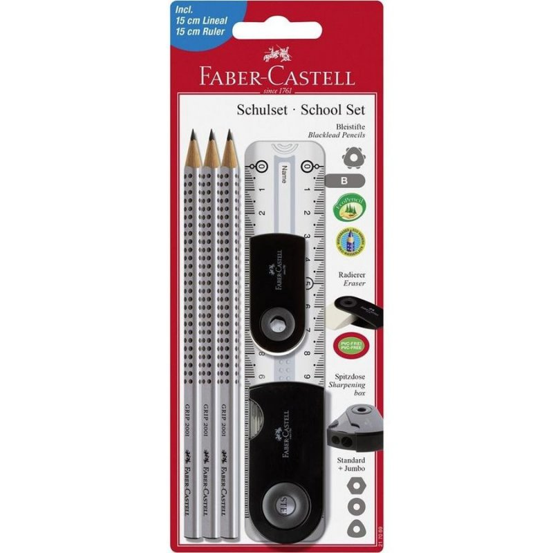 Image of   Faber Castell Pencil Set / Blyantsæt - Sort