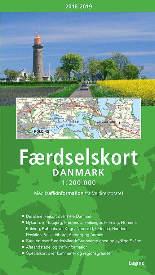 Billede af Færdselskort Danmark 2018-2019 - Bog