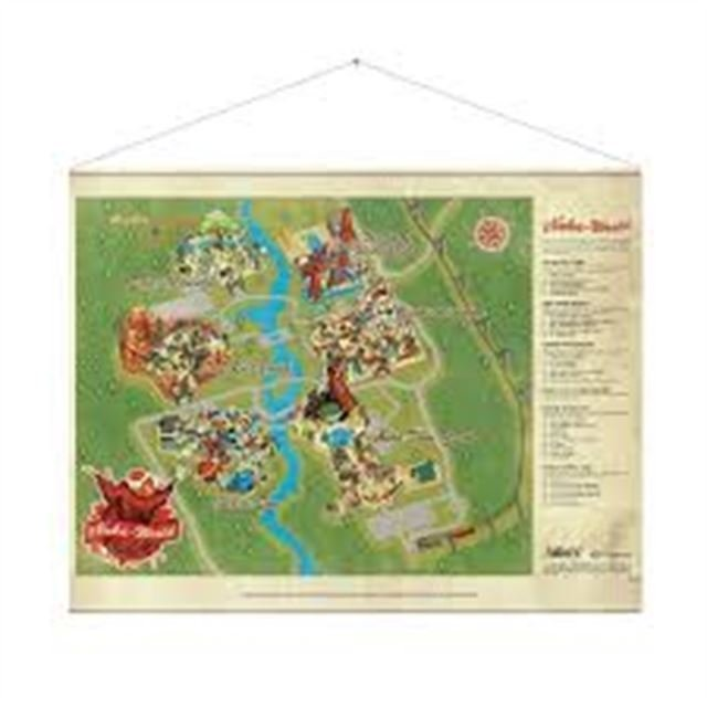 Image of   Fallout Wallscroll Plakat - Nuka World Map