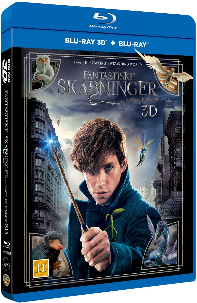 Image of   Fantastic Beasts And Where To Find Them / Fantastiske Skabninger Og Hvor De Findes - 3D Blu-Ray