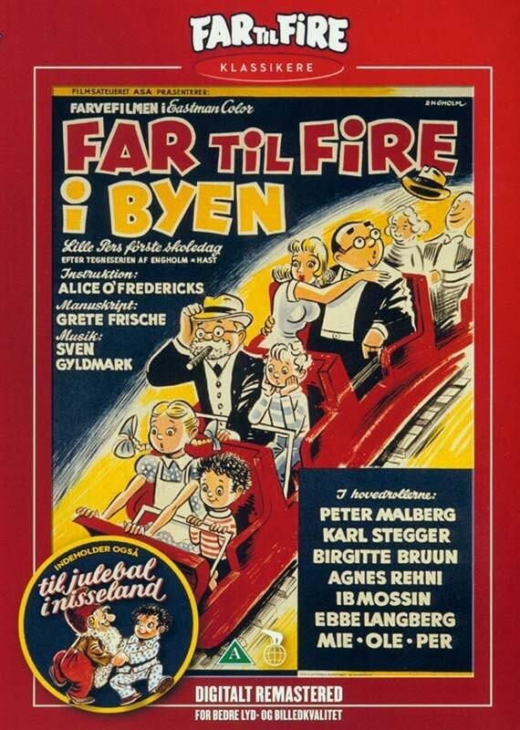 Far Til Fire I Byen - Nyrestaureret - DVD - Film